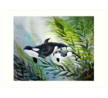 Mother Orca Art Print