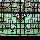 Pattern on stained glass window by bubblehex08