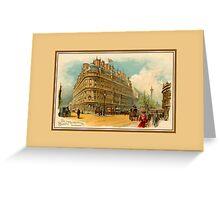 Victorian litho Hotel Metropole London advert Greeting Card