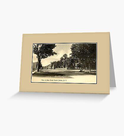 1890s Main Street Sackets Harbor NY Greeting Card