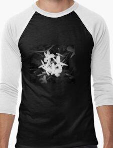 White Flower Men's Baseball ¾ T-Shirt