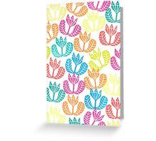 Block print flowers Greeting Card
