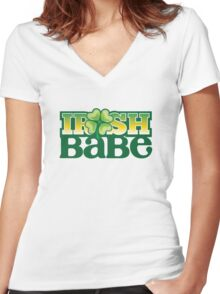 Irish Babe Women's Fitted V-Neck T-Shirt