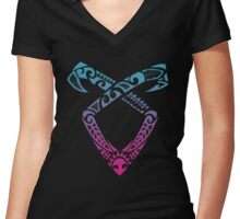 Angelic Runes Symbol - Shadowhunters Women's Fitted V-Neck T-Shirt