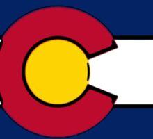 North Dakota outline Colorado flag Sticker