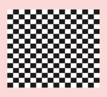 Small Black White Check Motorsport Race Flag Checkered Skirt Pillow One Piece - Long Sleeve