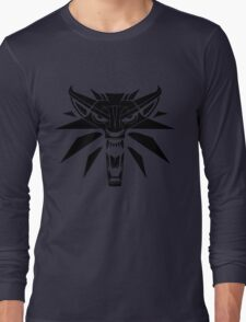 The Witcher - Wolf Medallion  Long Sleeve T-Shirt