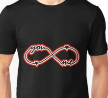 YOU & ME TILL INFINITY red Unisex T-Shirt