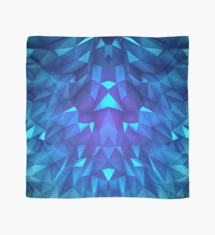 Deep Blue Collosal Low Poly Triangle Pattern -  Modern Abstract Cubism  Design Scarf