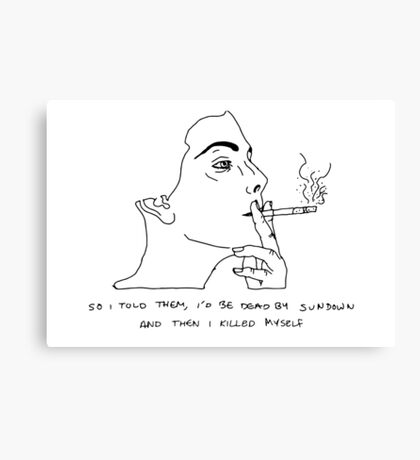Pettibon's Muse Canvas Print