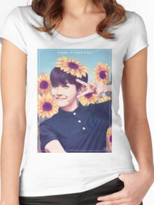 Happy J-hope Day!  Women's Fitted Scoop T-Shirt