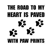 Paved Paw Prints Photographic Print