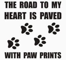 Paved Paw Prints Kids Tee