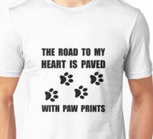 Paved Paw Prints Unisex T-Shirt