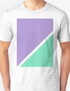 Modern Turquoise purple color block pattern  Unisex T-Shirt