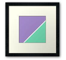 Modern Turquoise purple color block pattern  Framed Print