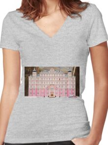 The Grand Budapest Hotel - Wes Anderson Film Women's Fitted V-Neck T-Shirt