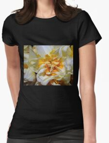 Double headed daffodil Womens Fitted T-Shirt