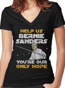 star wars bernie Women's Fitted V-Neck T-Shirt