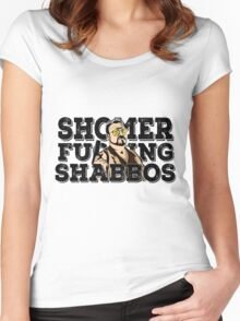 Shomer Shabbos- the big lebowski Women's Fitted Scoop T-Shirt