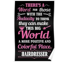 Big colorful world with hairdresser Poster