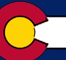 Pennsylvania outline Colorado flag Sticker