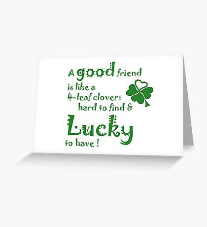 Saint patrick day greeting Greeting Card