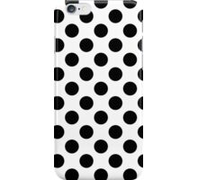 black & white polka dots iPhone Case/Skin