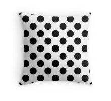 black & white polka dots Throw Pillow