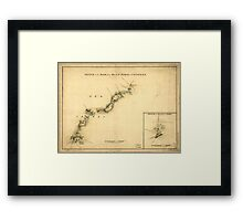 American Revolutionary War Era Maps 1750-1786 894 Sketch of the road from Black Horse to Crosswick Sketch of Allen's Town Framed Print