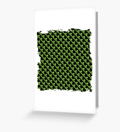 Saint  patricks day abstract background Greeting Card