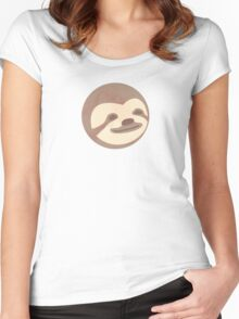 Sloth happy face - Shirts, mugs, stickers  Women's Fitted Scoop T-Shirt