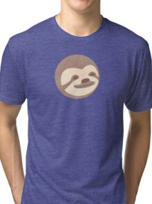 Sloth happy face - Shirts, mugs, stickers  Tri-blend T-Shirt