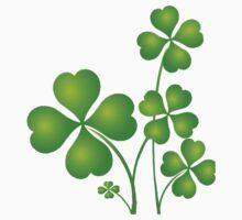 Patricks day clover leaves Kids Tee