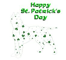 Patrick's day dog Photographic Print