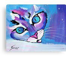 Star Kitten - Animal Art by Valentina Miletic Canvas Print