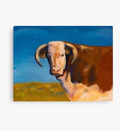 Hereford in Pasture Canvas Print