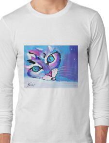 Star Kitten - Animal Art by Valentina Miletic Long Sleeve T-Shirt