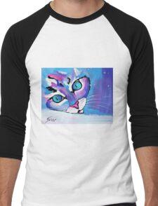 Star Kitten - Animal Art by Valentina Miletic Men's Baseball ¾ T-Shirt