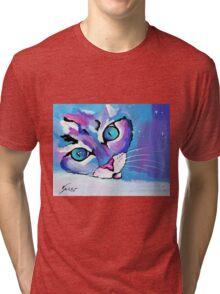Star Kitten - Animal Art by Valentina Miletic Tri-blend T-Shirt