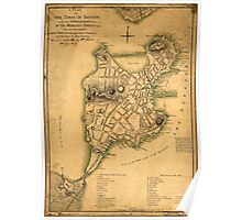 American Revolutionary War Era Maps 1750-1786 253 A plan of the town of Boston with the intrenchments &ca of His Majesty's forces in 1775 from the Poster