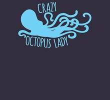 Crazy Octopus lady Womens Fitted T-Shirt