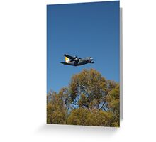 Last flight over Canberra c130 Greeting Card
