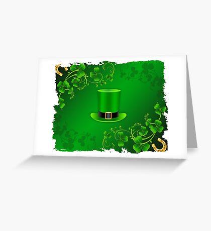 Saint Patricks Day Hat Greeting Card