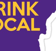 Minnesota Drink Local MN Purple Sticker