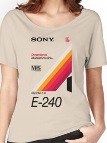 Retro VHS tape vaporwave aesthetic Women's Relaxed Fit T-Shirt