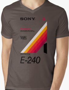 Retro VHS tape vaporwave aesthetic Mens V-Neck T-Shirt