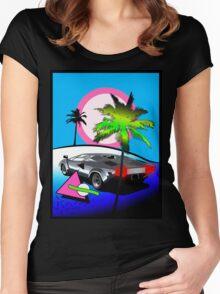Beach Cruisn' 1990 Women's Fitted Scoop T-Shirt