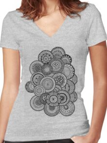 Bubbles Women's Fitted V-Neck T-Shirt