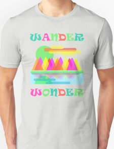 Wander Wonder Mountain Scene Unisex T-Shirt
